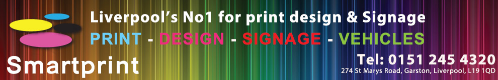 Smartprint Design, printers, Garston, Speke, Liverpool, PVC banners from £25, Garston, Speke, Liverpool, Sign writing, Garston, Speke, Liverpool, Car graphics, Garston, Speke, Liverpool, Vehicle graphics, Garston, Speke, Liverpool, Business cards, Garston, Speke, Liverpool, Business letterheads, Garston, Speke, Liverpool